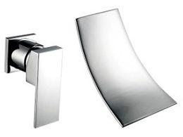 Wholesale Bath Sink Basin - peerless Wall Mounted Waterfall Basin Bathroom faucets Luxury Bath Sink tap mixer