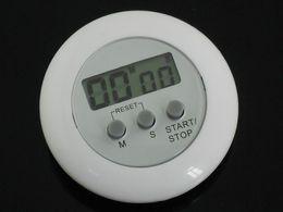 Alarm Clock Free Dhl Canada - Kitchen timer Cook Cooking Counter Clock Countdown Timer Alarm White LCD kitchen timer DHL Free Shipping 40pcs
