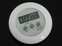 Wholesale White Kitchen Timer - Kitchen timer Cook Cooking Counter Clock Countdown Timer Alarm White LCD kitchen timer DHL Free Shipping 40pcs