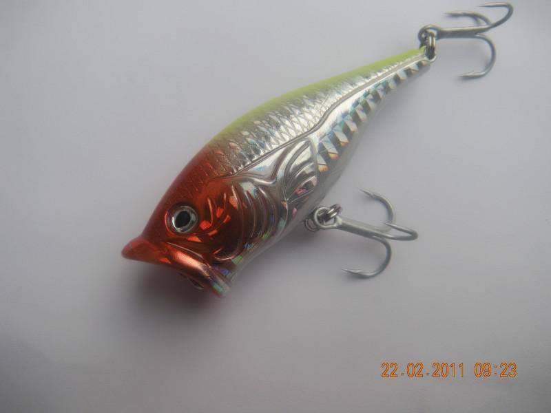 Fiske Lure Popper 65mm 13g 10 stycken / mycket gratis frakt