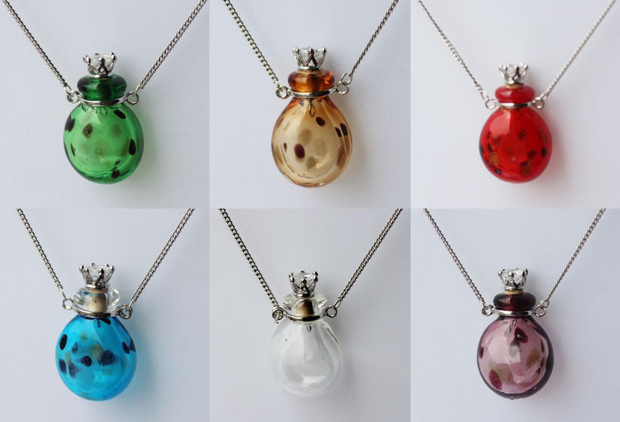 2018 murano glass perfume necklacearoma pendant vialfragrance vial see larger image aloadofball Images