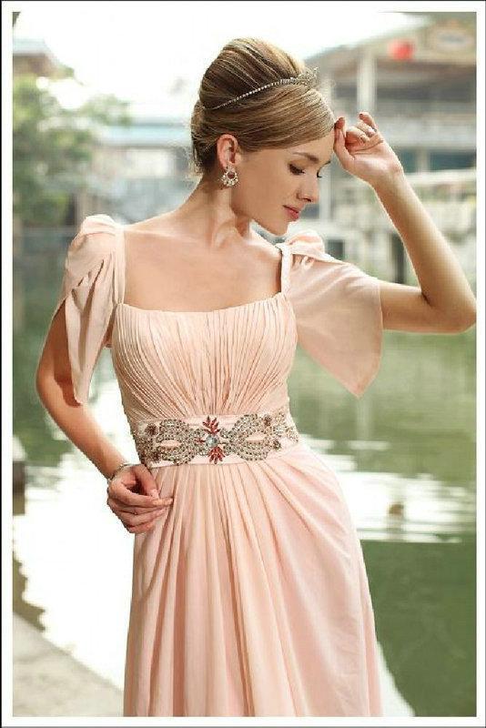 Short Sleeve Evening Dresses Top Fancy 2015 Square Neckline ...