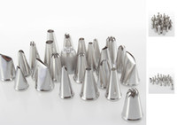 Wholesale decorating sets - Quality DIY Tool Box Set Cake Sugarcraft Decorating 24pcs Icing Piping Nozzles Pastry Tips
