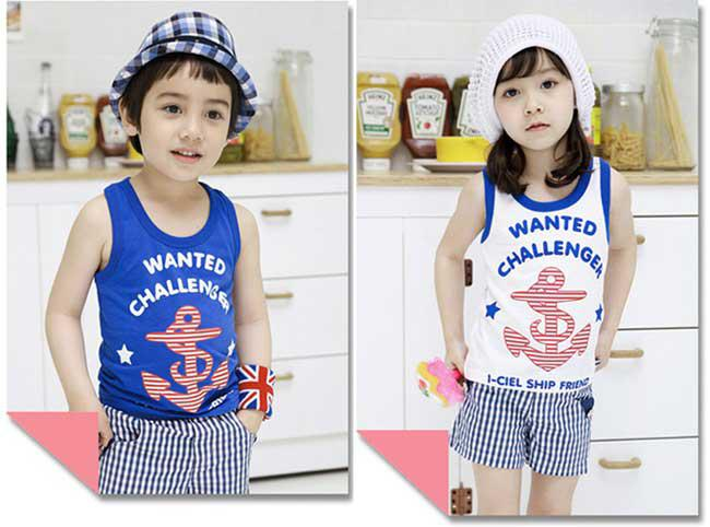 d9a693fb3 Baby Boys Girls Clothing Suit Navy Style Clothes Children Vest + ...