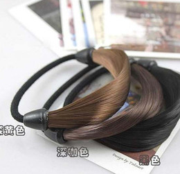 Wholesale Wig Korean - Wholesale-Fashion Korean Wig Hair Hair Circle Manual Twist Rubber Band Hairband SY14