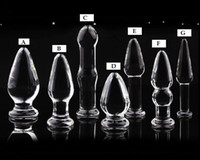 7 designs Glass Glasses Butt Plug Anal Jewelry plug glass dildo penis sex toy products