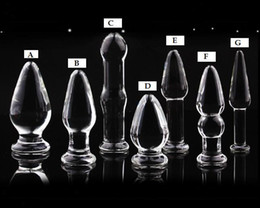 Wholesale Sex Jewelry - 7 designs Glass Glasses Butt Plug Anal Jewelry plug glass dildo penis sex toy products