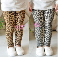 Wholesale Classic Girl Leggings - Children Leggings girl leopard pants Children Leggings Girls Classic Leopard Leggings baby pants.