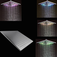 Wholesale 12 Inch Ceiling Shower Head - 12 inches ceiling brass shower led rain shower head