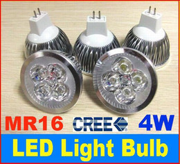 Wholesale Mr16 Down Lights - 4W CREE LED spotlight lamp 12V MR16 Down Light Bulb 4*1W LED Bulb GU10 E27 led bulb For Studio Home
