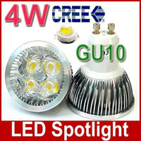 AC85V-265V GU10 4W faretto LED Luce A LED CREE 4 * 1W E14 E27 ha condotto la lampadina 4pcs lampada luminosa LED / lot