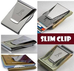 Wholesale Double Sided Credit Card Holder - Free Shipping ! Top quality 10 pcs lot BRAND NEW MONEY DOUBLE SIDED WALLET CARD HOLDER Money Clips