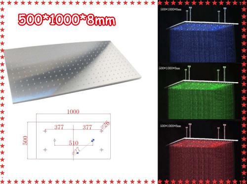 rectangular rain shower head. 500 1000 mm Rectangle big size rain shower head LED bath Mm Big Size Rain Shower Head Bath