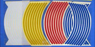 50セット/ロット卸売カースタイリング反射ホイールリムストライプステッカーデカール17 '' 18 '' 19 ''多くの色