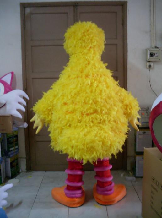 참깨 거리 EVA 머리 스폰지와 깃털 노란색 큰 조류 마스코트 의상 사용자 정의 무료 배송을 만들어