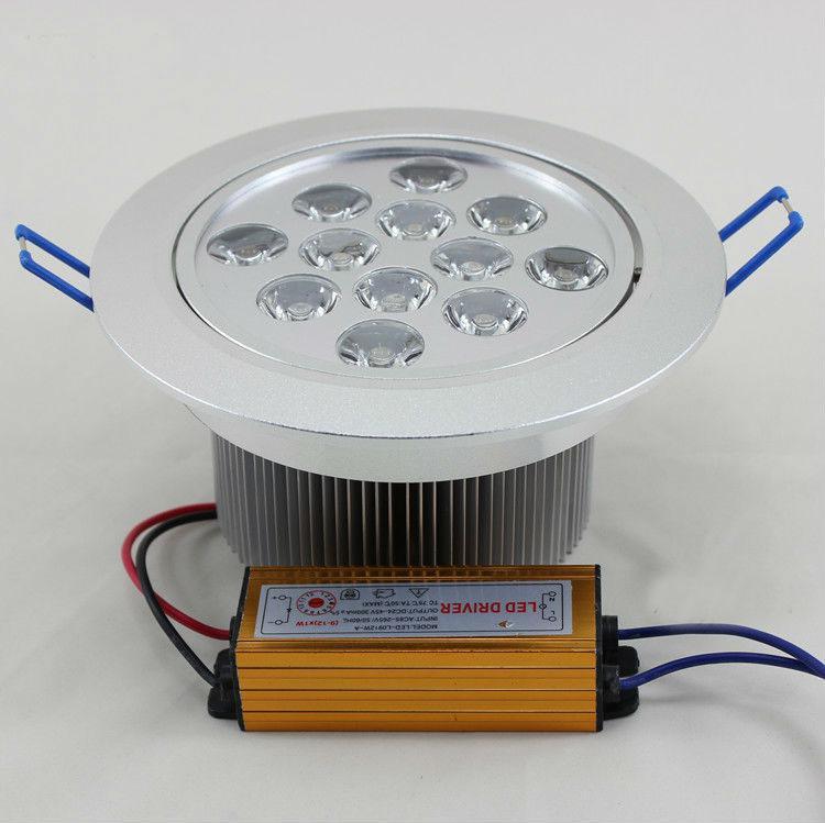 12W Plafoniera LED 1000LM Lampada da incasso a soffitto Lampade da incasso a soffitto Bianco freddo   Bianco caldo 85V-265V