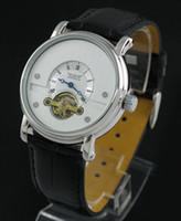 ingrosso orologi meccanici orologi tourbillion automatico-uomini automatici automatici di lusso del cuoio tourbillion meccanico di immersione del progettista degli uomini orologio da polso sport jaragar