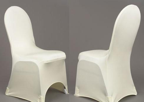 white spandex banquet chair cover with an arch on feet for hotel
