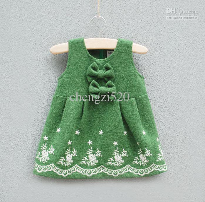 Hochwertige Woolen Kleider Herbst Stil Weste Rock