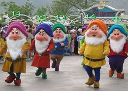 Wholesale Dwarf Mascot Costume Cartoon - New .The Seven Dwarfs. Adult Size Cartoon Mascot Costume @#dyggvfk
