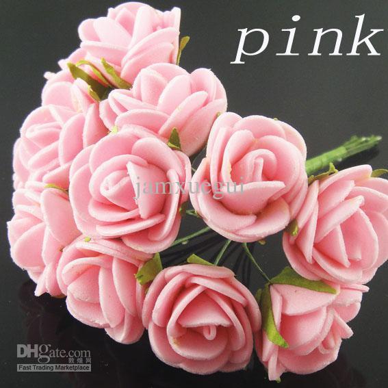 acheter livraison gratuite mini mousse de boutons de roses plein douzaine artificielle fleurs. Black Bedroom Furniture Sets. Home Design Ideas