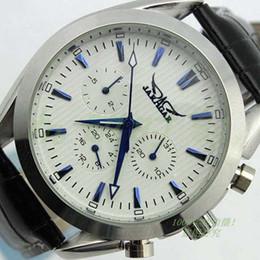 marcas de relojes automáticos jaragar Rebajas Jaragar diseñador de moda marca de fábrica superior relojes hombres mecánico automático buceo esfera blanca para hombre reloj suizo