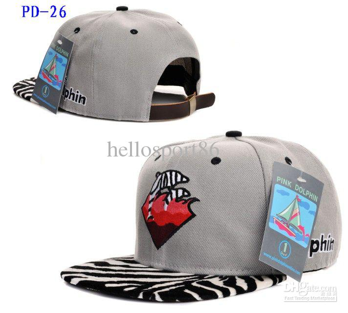 b49ef4a8072c Pink Dolphin Snapbacks Hats Grey With Zebra visor Hip Hop Streetwear Snapbacks  Hat Cap Free Shipping