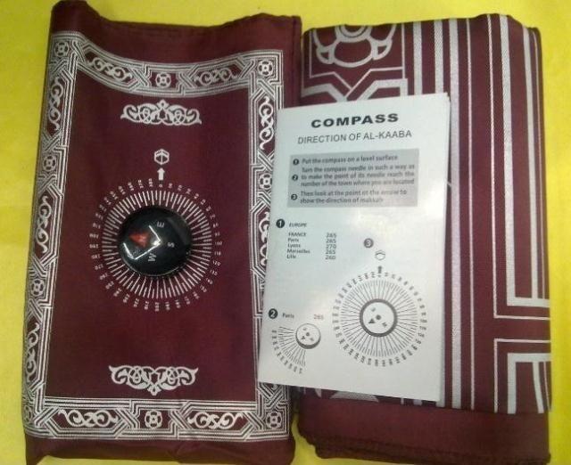 Muslim Prayer Mat Bag Compass Makkah Prayer Rugs Quran