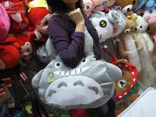 TOTORO Peluche Poupée Sac à Dos de Bande Dessinée Doux Peluches Sacs TOTORO sacs à main Totoro sac Sacs de mode