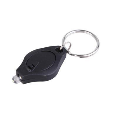 マイクロライトLEDキーホルダーの保護可能な懐中電灯ホワイトライトLEDトーチキーチェーンお金の検出器の多機能キーリングリングキッドのおもちゃキーファインダー