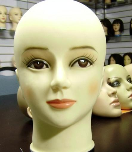 Cosmetology Female Mannequin Head Hat Wig Practice Hairdressing Practice Profession Student PVC training head model head model High quality