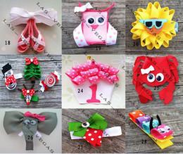 Wholesale Animal Grosgrain Ribbon - baby animals hair clips girls hair clip children hair bow kid grosgrain ribbon bows