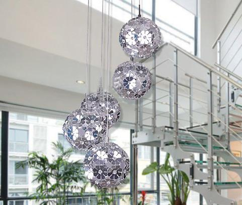Discount Modern Flowers Chandelier Lightings Creative Silver 5