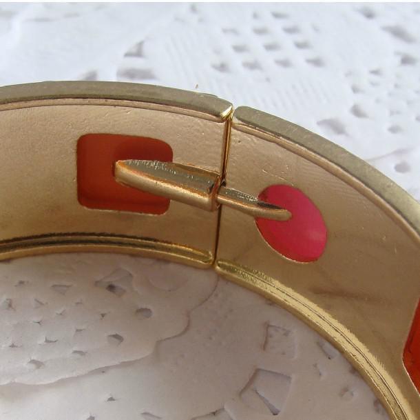 Pulsera de gemas de lujo abriendo las pulseras de oro de colores C3
