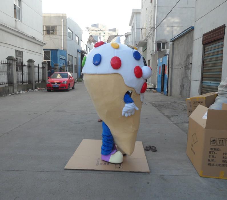 ロゴの習慣がなしの大きなアイスクリームマスコットの衣装は大人のサイズ送料無料