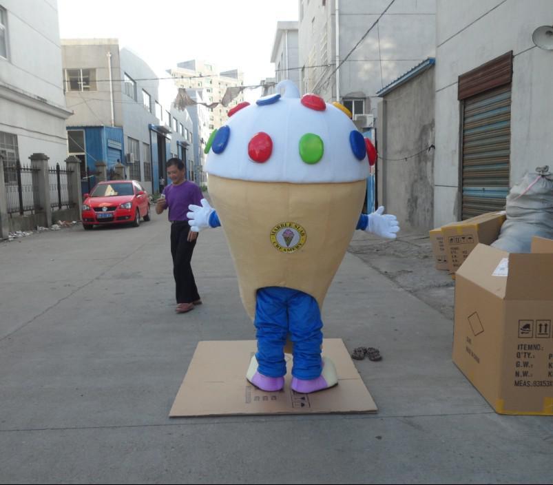 grote ijsmascotte kostuums zonder logo op maat gemaakte volwassen grootte gratis verzending