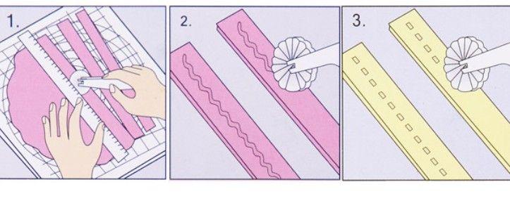 Fondant Kuchen Zucker Handwerk Rad Cutter Embosser Tool Set