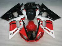 yamaha yzf r6 98 al por mayor-Calado inyectado rojo blanco para el kit de carenados YAMAHA YZF R6 1998 1999 2000 2001 2002 YZF-R6 98 99 00 01 02