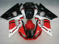 Wholesale 98 yamaha r6 resale online - Red white Injection molded fairing for YAMAHA YZF R6 fairings kit YZF R6