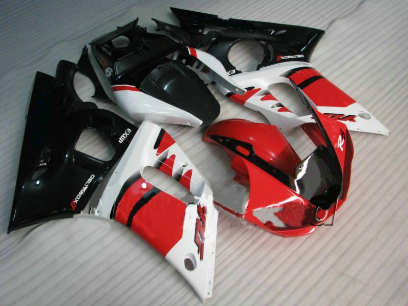 Al carenado moldeado de inyección blanco para Yamaha YZF R6 Kit de cares 1998 1999 2000 2001 2002 YZF-R6 98 99 00 01 02