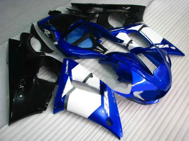 Blauw Wit Zwart Injectie Gevormd voor Yamaha R6 FUNDINGS KIT 1998 - 2002 YZF600 YZF-R6 98 99 00 01 02 Body