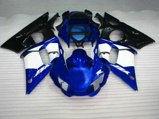Blue white black Injection molded for YAMAHA R6 fairings kit 1998 - 2002 YZF600 YZF-R6 98 99 00 01 02 body