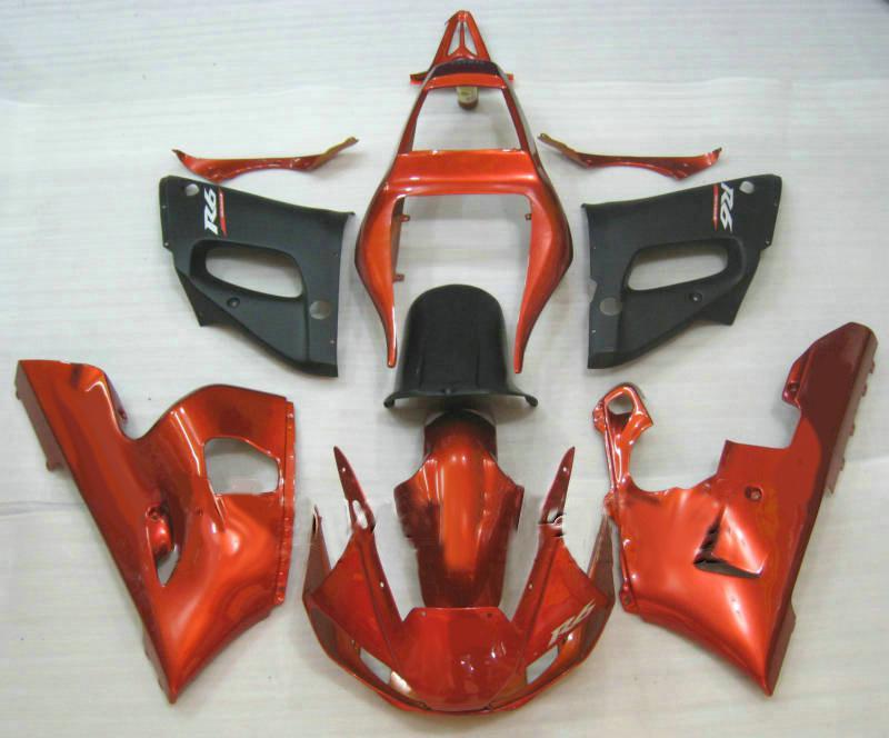 Gratis anpassad karosseri för Yamaha YZF R6 Fairing Kit 1998-2002 YZF600 YZFR6 98 99 00 01 02
