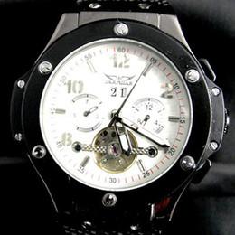 relógio grande homem branco Desconto Homens de luxo jaragar inoxidável big bang tourbillion relógio mecânico automático de mergulho branco mens relógios