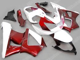 Wholesale Cbr Custom Fairings - Custom Red White Fairing kit For HONDA CBR900RR 00 01 CBR-900RR CBR 900RR 929 2000 2001 Injection mold Fairings set+7gifts