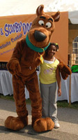 Wholesale Scooby Costumes - Brand new scooby dog Plush Mascot costume Adult Size children kid gift toy Free shipping.