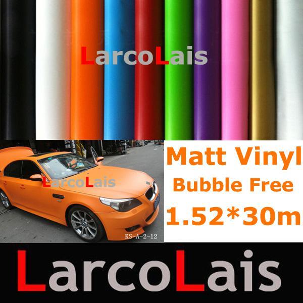 Bubble Free 1.52m*30m Matte Glossy Orange Carbon Fiber Vinyl Wrap Film Air Release Drain Car Sticker