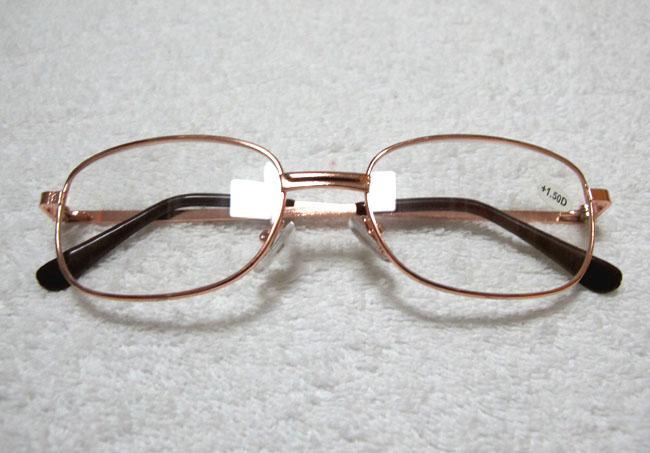 安く読書メガネメタルフレーム読書アイウェア長い視力銀色とゴールドフレームカラー/ロット8801