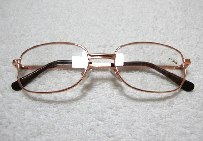 Goedkope leesbril metalen frame lezen eyewear lang-gesighted bril zilver en gouden frame kleur 50 stks / partij 8801