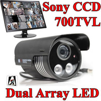 Wholesale Dual Ccd Cctv Camera - 700TVL Dual ARRAY IR LED Sony CCD Security camera 8mm waterproof CCTV Camera